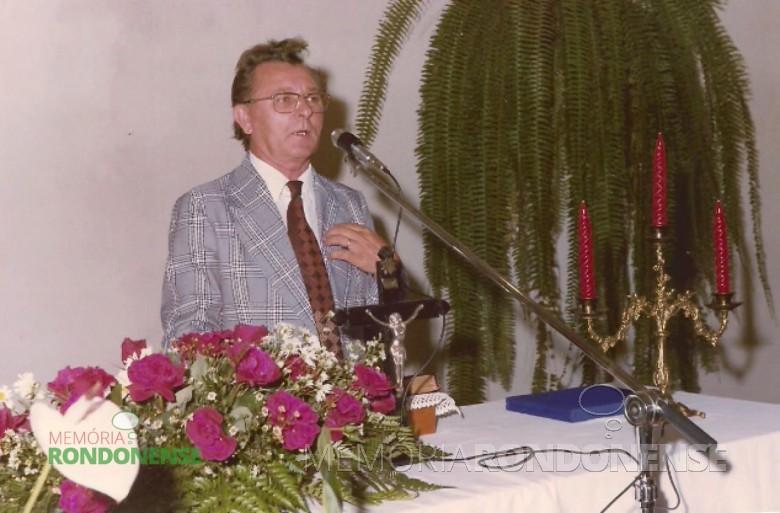 Pastor Jan Serfas foi o terceiro pastor da Igreja Evangélica Congregacional de Marechal Cândido Rondon.  Imagem: Acervo da família - FOTO 4 -