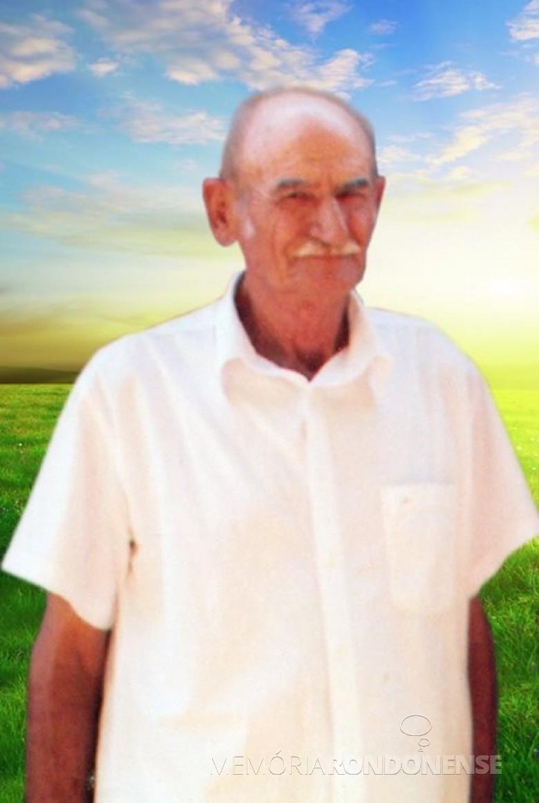 Kurt Henke, pioneiro rondonense, falecido na Bahia, em 2013.  Imagem: Acervo Norberto Henke - FOTO 4 -
