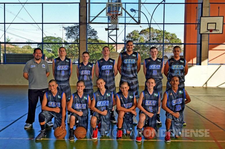Equipe do Colégio Frentino Sackser vice-campeã de basquetel nos Jogos Escolares do Paraná 2017.  Imagem: Acervo www.jogosescolares.pr.gov.br - FOTO 6 -