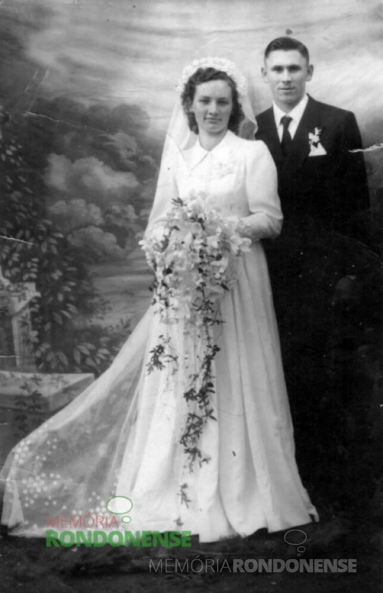 Herbert Boroski fotografado no dia de seu casamento com Hildegard Weimann. Imagem: Acervo Claudio e Merci Lindner. – FOTO 4 –