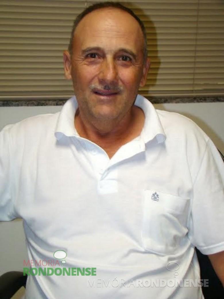 Ex-vereador  e x-diretor-presidente do SAAE, falecido em 15 de outubro de 2014. Imagem: Acervo CM- Marechal Cândido Rondon.