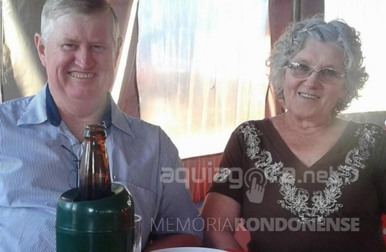 Casal Glaci e Martinho Becker falecido em outubro de 2019. Imagem: Acervo AquiAgora.net - FOTO 10 -