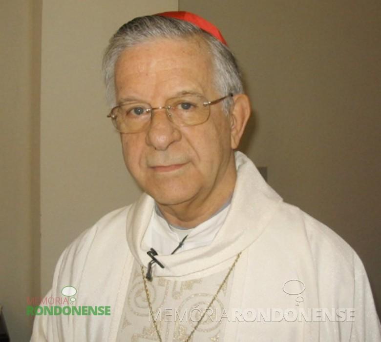 D. Geraldo Magela Agnelo foi o segundo bispo da diocese de Toledo, depois arcebispo da Província Eclesiástica de Londrina e anos depois designado com arcebispo da Arquidiocese de São Salvador, Bahia.  Em 21 de fevereiro de 2001 é agraciado com o título de cardeal pelo Papa João Paulo II. Imagem: Acervo Cúria Metropolitana de Salvador