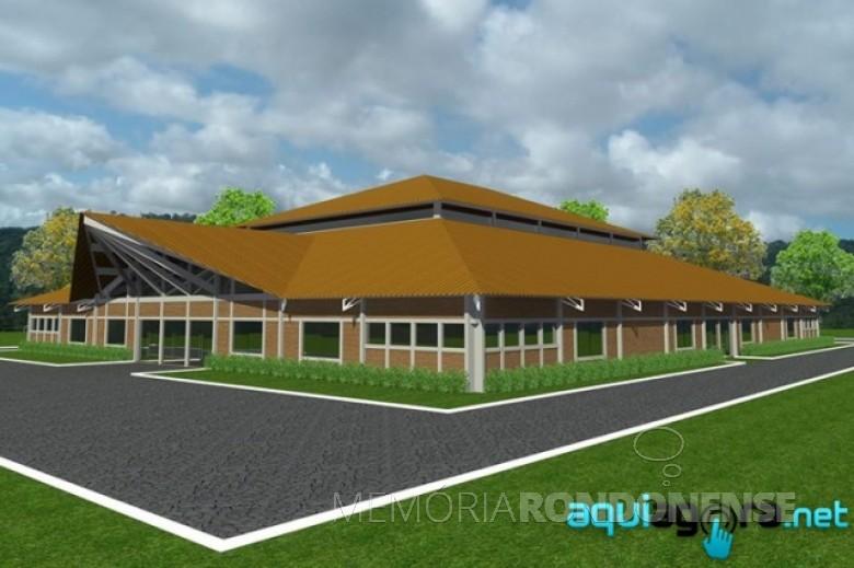 Perspectiva da nova sede social do CTG Tertúlia do Paraná.  Imagem: Acervo AquiAgora.net - FOTO 4 -