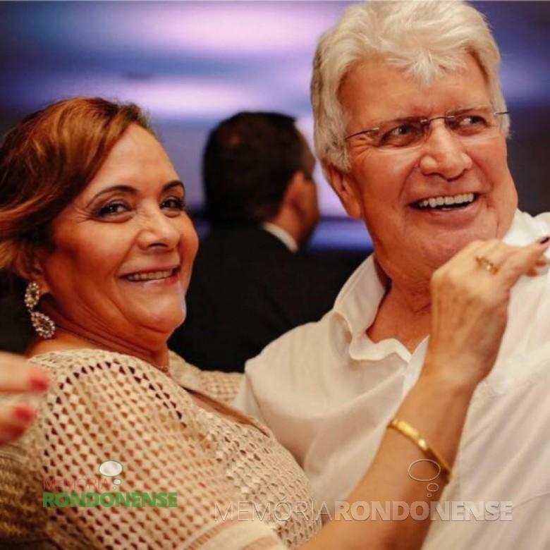 O rondonense Flores Poersch e esposa Nazaré fotografados na cidade de Rio Branco, no Acre.  Imagem: Acervo Nazaré Poersch - FOTO 4 -