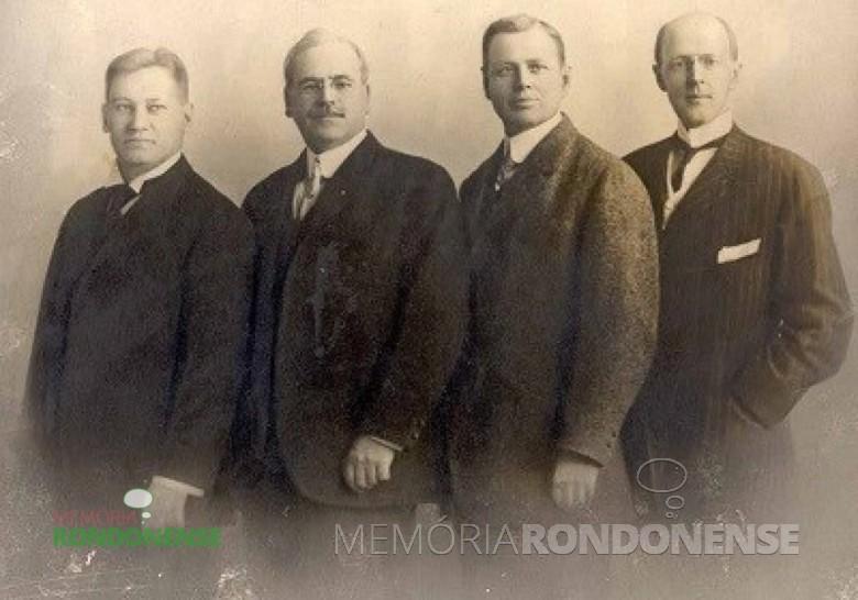 Os quatro fundadores do Rotary Internacional . Imagem: Arquivo Rotário - FOTO 1  -