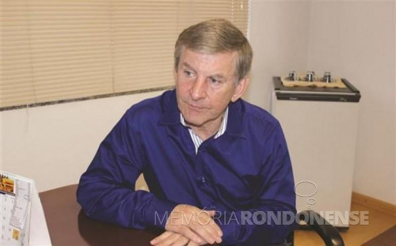 Deputado Estadual Elio Lino Rusch que foi presidente do Democratas-PR até 02 de julho de 2015. Imagem: Acervo O Presente - FOTO  8 -