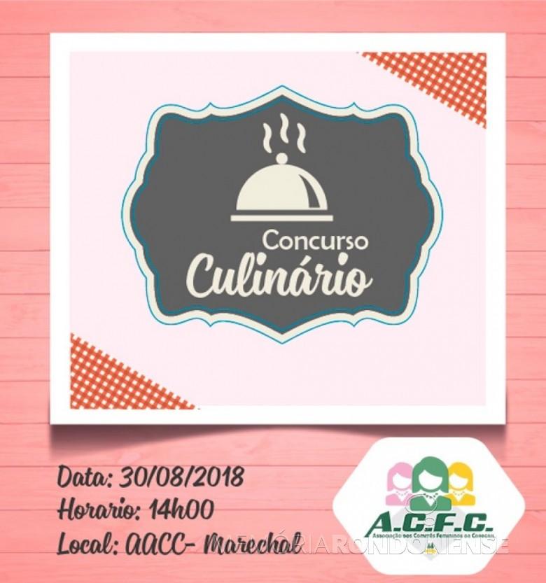 Dístico do 15ª edição do Concurso Culinário da ACFC, realizado em final de agosto de 2018.  Imagem: Acervo Comunicação Coapgril - FOTO 8 -