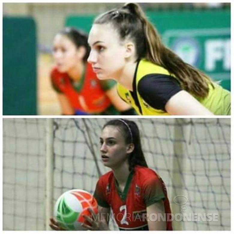 Atleta Larissa Besen, da equipe do Colégio Evangélico Martin Luther; SICOOB/Marechal Cândido Rondon. Imagem: Acervo pessoal - FOTO 5 -
