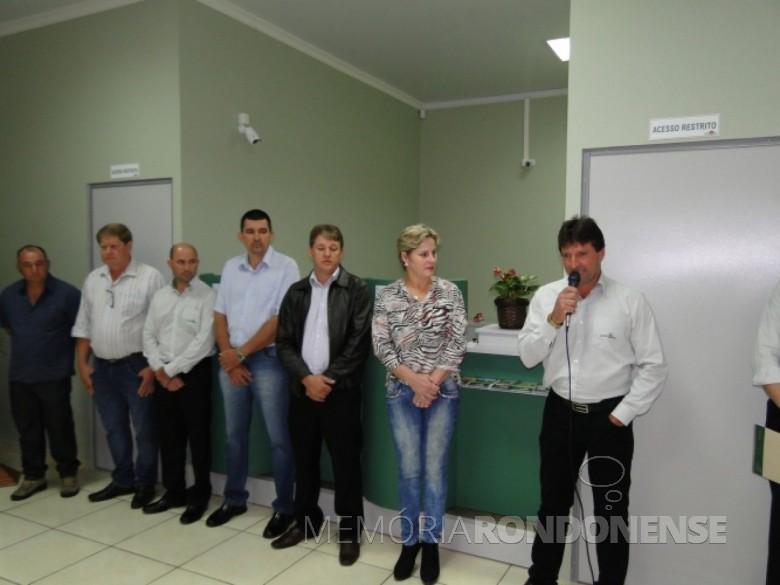 Momento da solenidade de inauguração da nova agência da Cresol, na sede municipal de Mercedes. Imagem: Acervo AquiAgora.net - FOTO 3 -