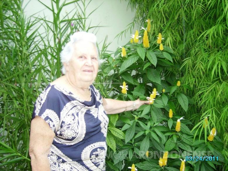 Pioneira Helga (nascida Liell) Haubert falecida em dezembro de 2017.  Imagem; Acervo Darcila Haubert - FOTO 4 -