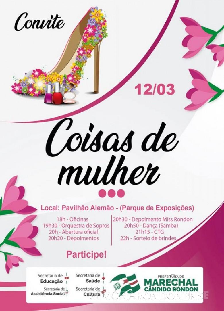 Cartaz convite para o evento