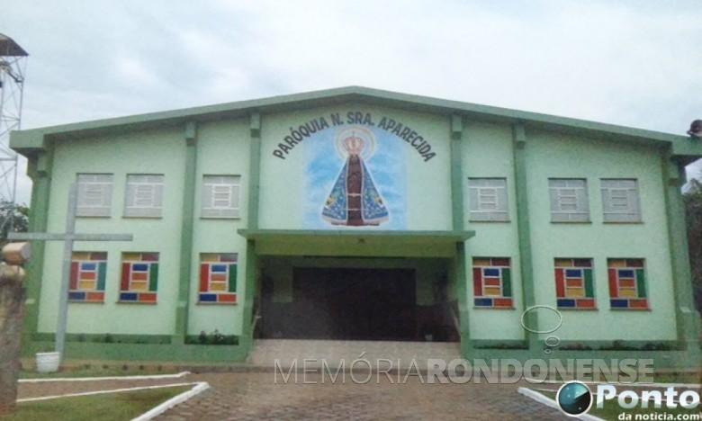 Igreja matriz da Paróquia Nossa Senhora Aparecida, da cidade de Mercedes, em 20 de junho de 2019.  Imagem: Acervo Ponto de Notícia - FOTO 3 -