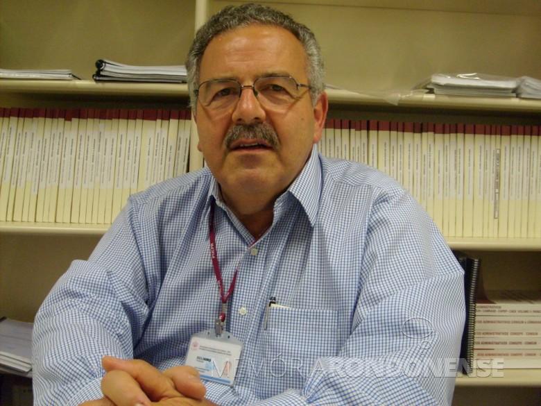 Professor Belmiro Valverde Jobim Castor que visitou Marechal Cândido Rondon, em maio de 1978.  Imagem: Acervo UFPR - FOTO 1 -