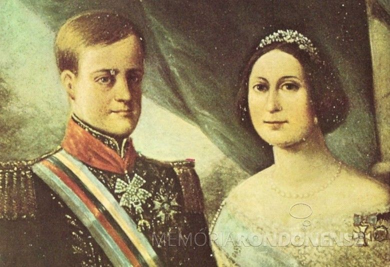 O imperador D. Pedro II e  a princesa Tereza Cristina Maria de Bourbon.  Imagem: Acervo Museu Imperial de Petrópolis - FOTO 4 -