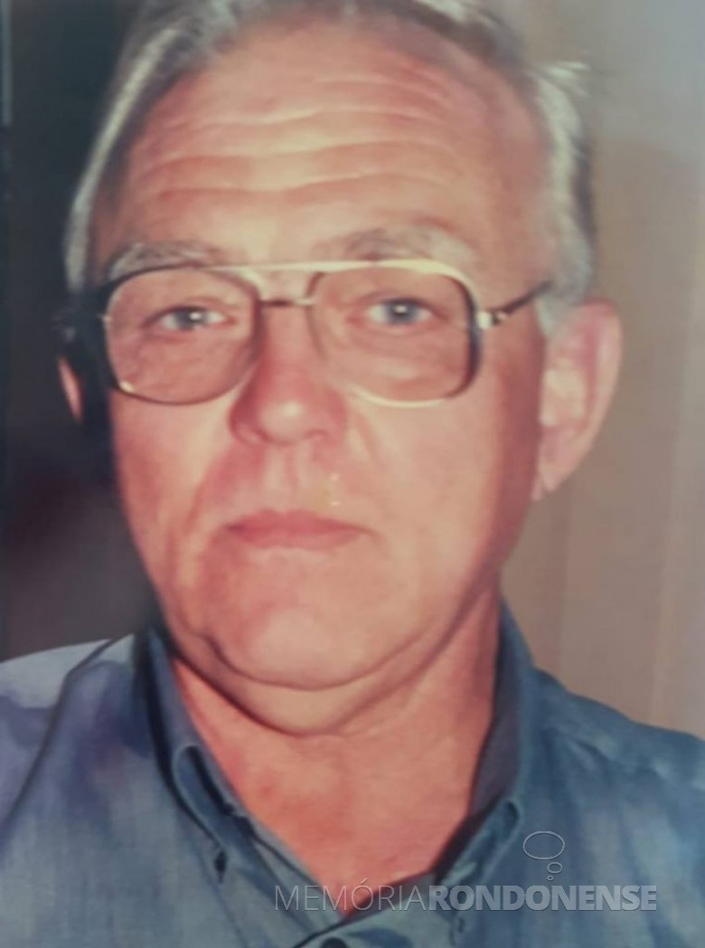 Pastor Waldemar Erich Krüger falecido em final de novembro de 2018, na Alemanha.  Imagem: Acervo Jenny Brustolin - FOTO 7 -