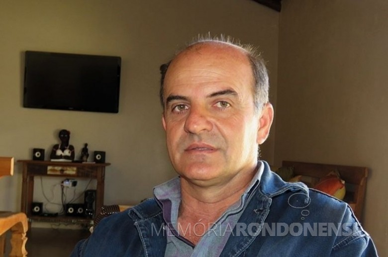 Gilberto Salvador, prefeito municipal de São José das Palmeiras, eleito em janeiro de 2017 para a presidência do Ciscopar.  Imagem: Acervo Portal Grande Lago Notícias - FOTO 7 -