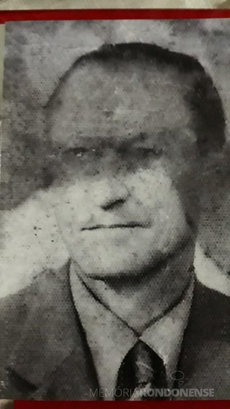 Pioneiro rondonense Nikolaus Rehm falecido em novembro de 1966.  Imagem: Acervo de Julio Rehm - FOTO 5 -