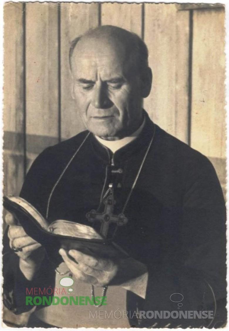 D. Manoel Könner, religioso que oficiou a primeira missa em Marechal Cândido Rondon, em 08 de dezembro de 1951.  Imagem: Acervo Memória Rondonense