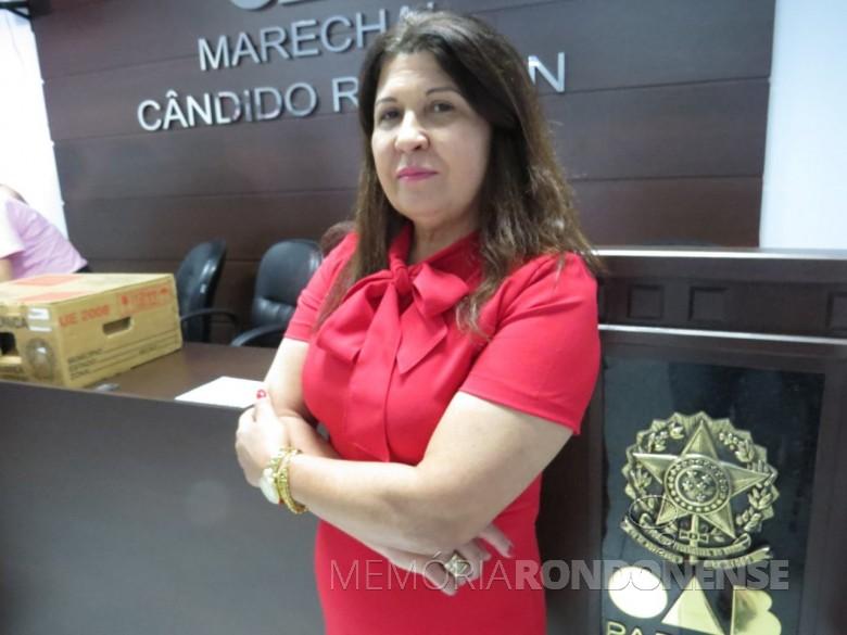 Advogada Nair Scripchenco Galles eleita presidente para a OAB - Marechal Cândido Rondon para o triênio 2019/2021.  Imagem: Acervo O Presente - FOTO 9 -
