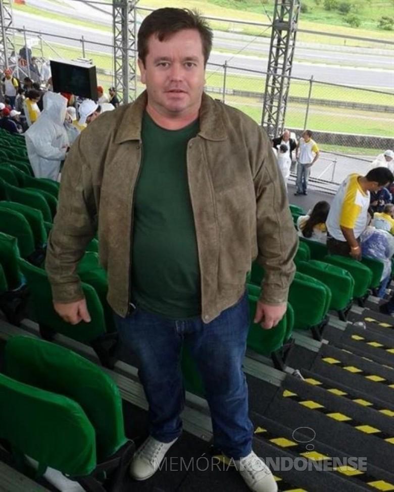 O rondonense Adilson Stülp assassinado em 07 de março de 2015, na capital Boa Vista, de Roraima. Imagem: Facebook