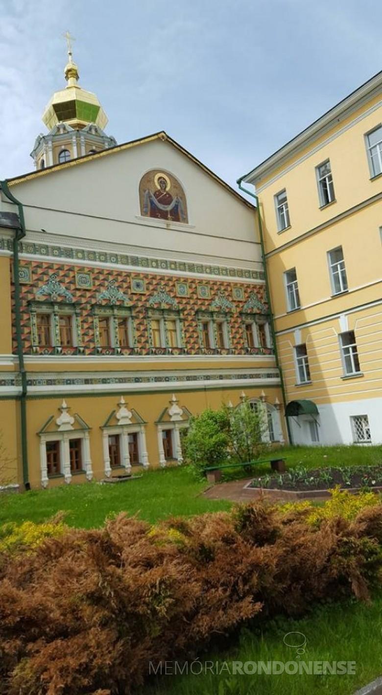 Outra vista externa Academia Teológica de Moscou.  Imagem: Acervo Neimar Troes - FOTO 13 -