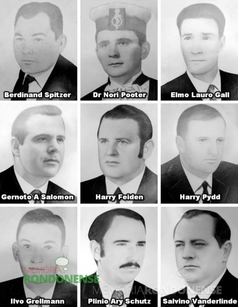Vereadores eleitos em 30 de novembro de 1969 e diplomados em 13 de dezembro. Imagem: Acervo CM-MCR - FOTO 1 _