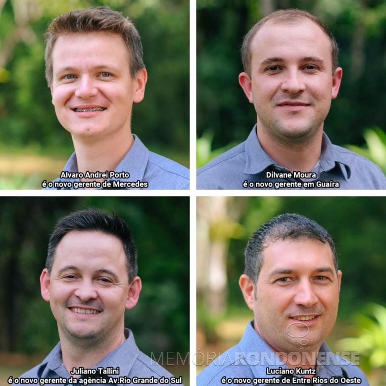 Novos gerentes das unidades da Sicredi Aliança PR/SP.  Imagem: Acervo da cooperativa de crédito - FOTO 5 -