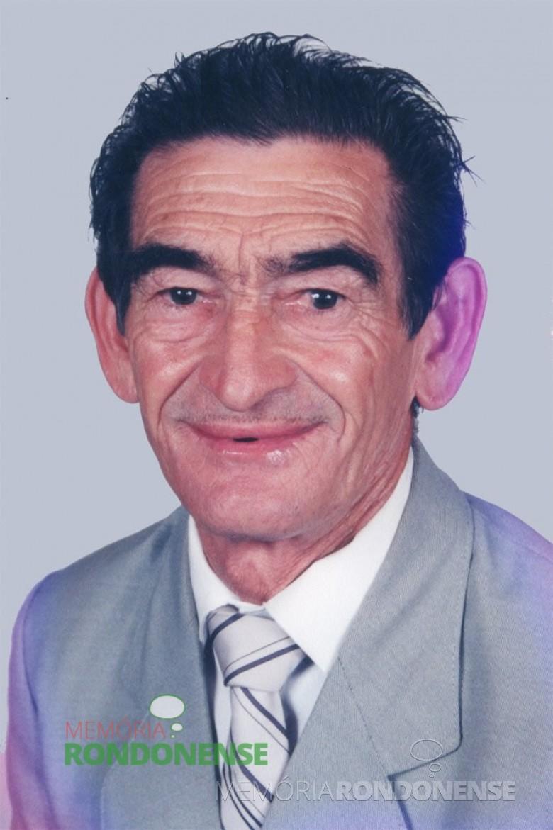 O pioneiro rondonense na La. São Cristóvão, ex-lider comunitário e ex-vereador Germino Bresolin.  Imagem: Acervo O Presente - FOTO 1-