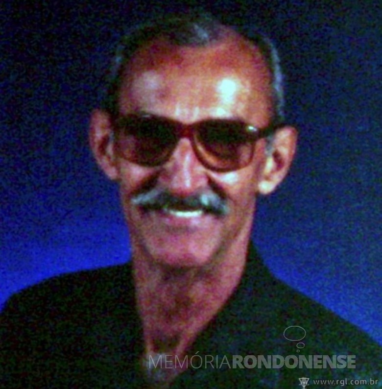 Francisco Antonio Muniz, ex-prefeito nomeado de Santa Helena, falecido em março de 2013. Imagem: Acervo Rádio Grande Lago - FOTO 5 –