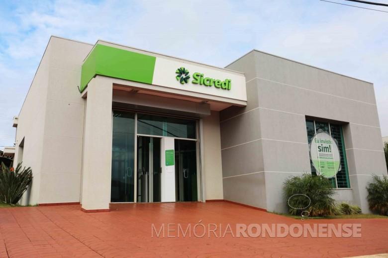 Novo visual da agência da Sicredi PR/SP, em São José das Palmeiras, inaugurado em 07 de junho de 2018.  Imagem: Acervo Sicredi Aliança PR/SP - FOTO 8 -