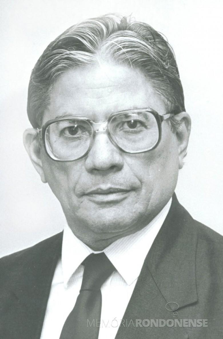Senador Leite Chaves, que esteve em Marechal Cândido Rondon, em julho de 1975.  Imagem: Acervo Wikimedia - FOTO 3 -