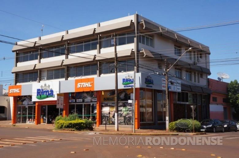 Atuais instalações da empresa rondonense Rondon Implementos e Máquinas Agrícolas (RIMA).  Imagem: Acervo da empresa - Crédito: Alexandre Hofmeister - FOTO 1 -