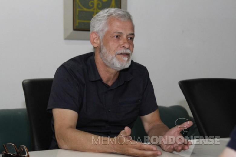 Sir Carvalho da ONG Vigilantes da Gestão que esteve em Marechal Cândido Rondon, em abril de 2019.  Imagem: Acervo Bem Paraná - Curitiba - FOTO 12 -