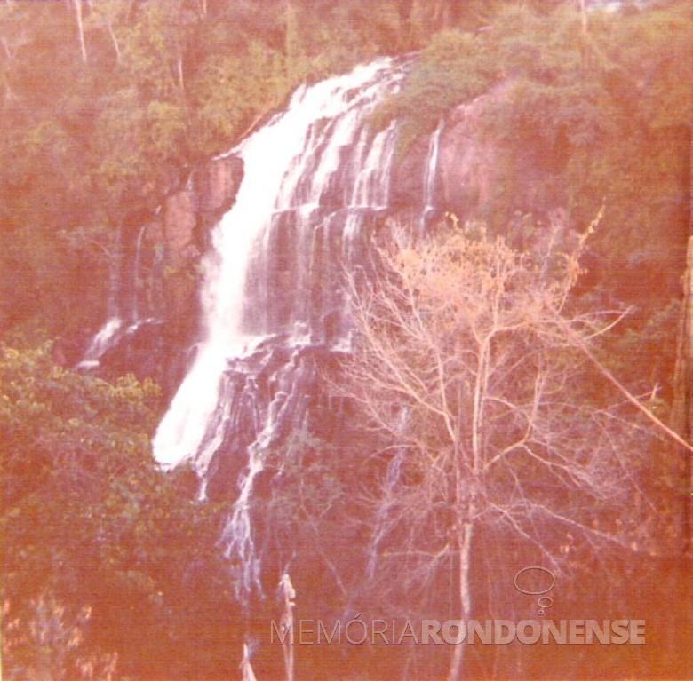 Cachoeira do Rio Felicidade, 70m de altura Marechal Cândido Rondon. 1978