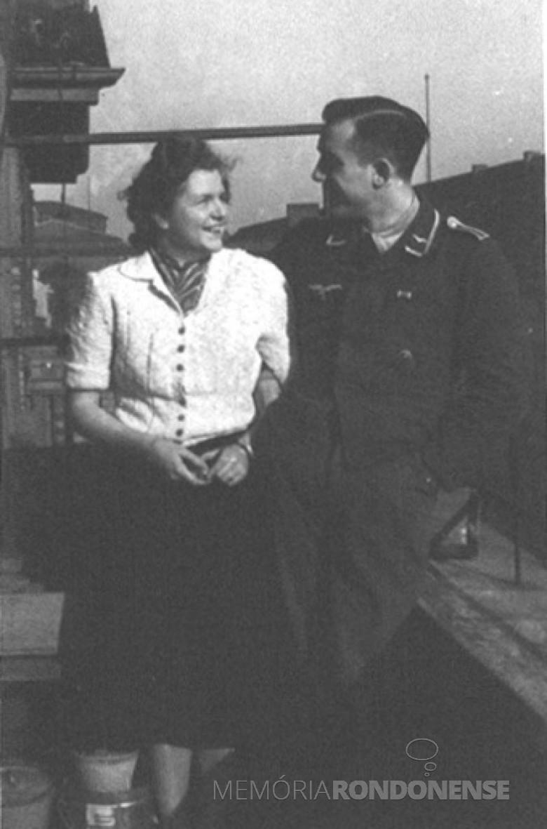 D. Ingrun e Dr. Seyboth noivos, em  1939.
