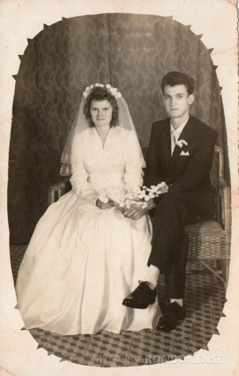 Casamento de Maria Becker e Adolfo Oscar Kunzler.