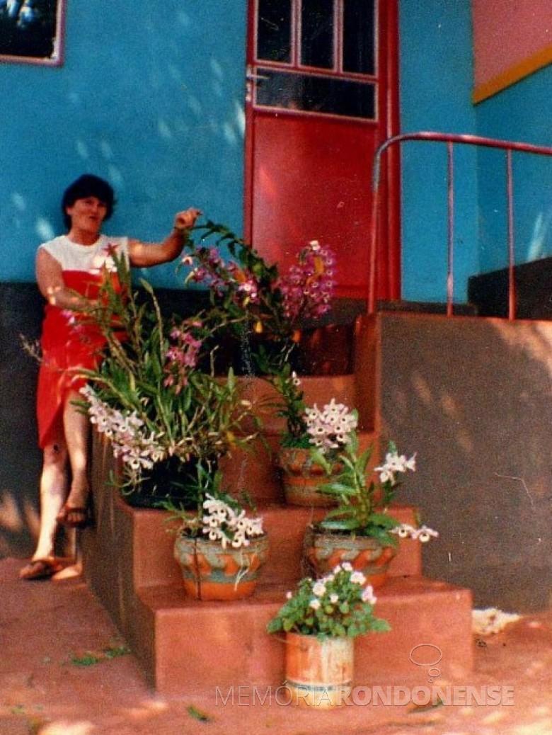 Maria Becker Kunzler, em sua residência.