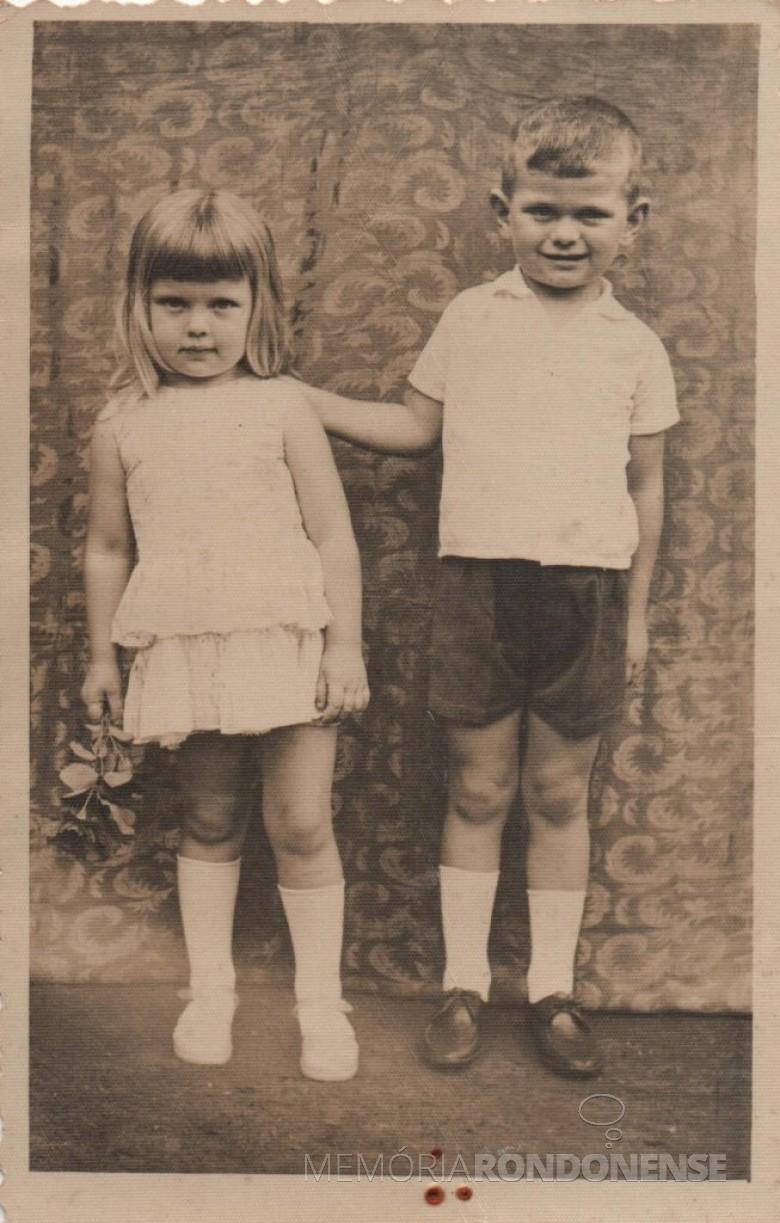 Filhose Ilse e Ivo.