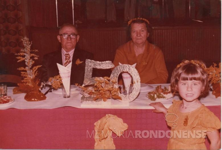 Bodas de Ouro dos pais de Adolfo Oscar Kunzler, Olinda e Albino Kunzkler.