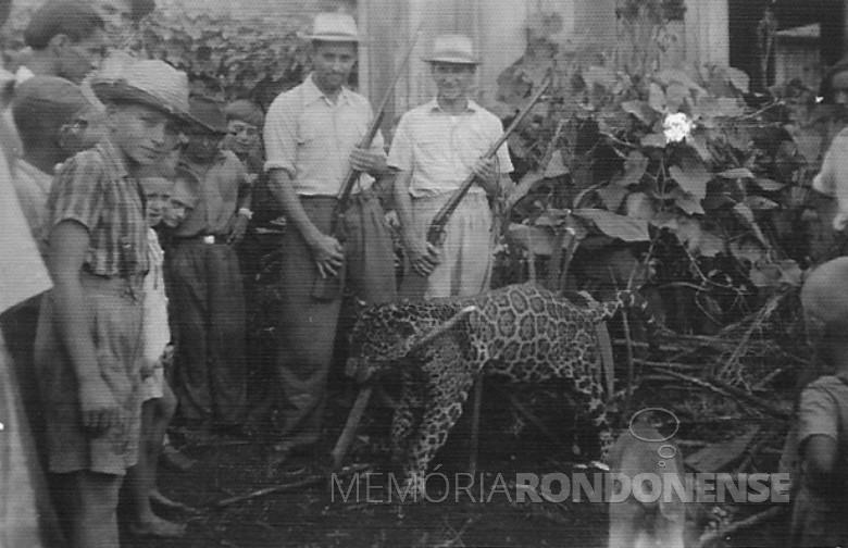 Alfredo Nied e Alfredo Soertner. Caçada em 1952.
