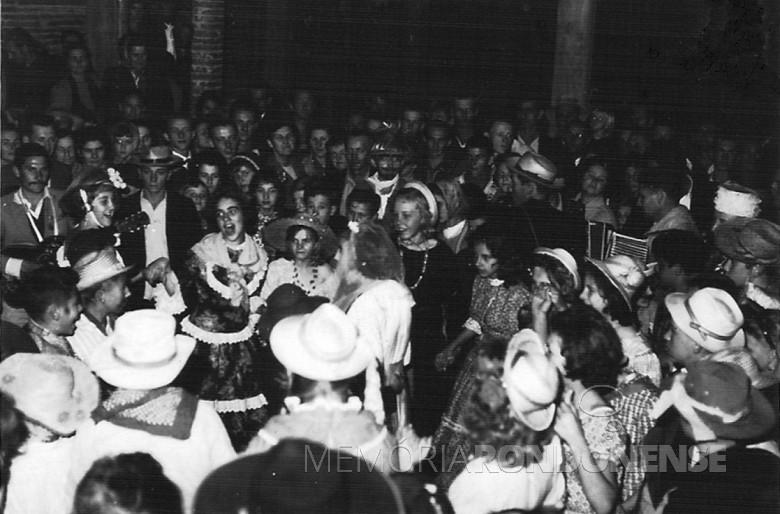 Festa junina, em 1964.