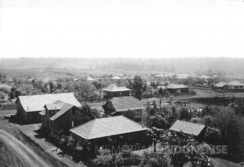 Primeiras moradias de General Rondon, em 1957.