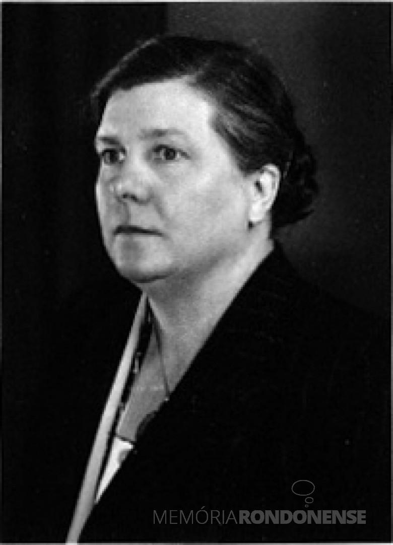 Emilie Klagges, mãe de D. Ingrun - sogra do Dr. Seyboth.