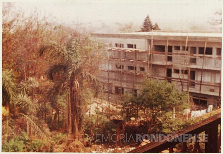 4º etapa da ampliação do Hospital e Maternidade Filadélfia, em  1977.