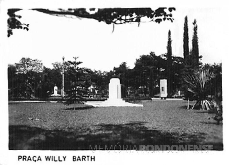 Praça Willy Barth, 1980.