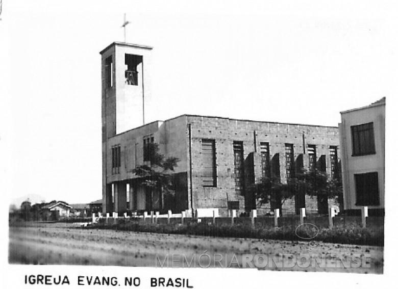 Construção da Igrela Evangélica Martin Luther. 1980