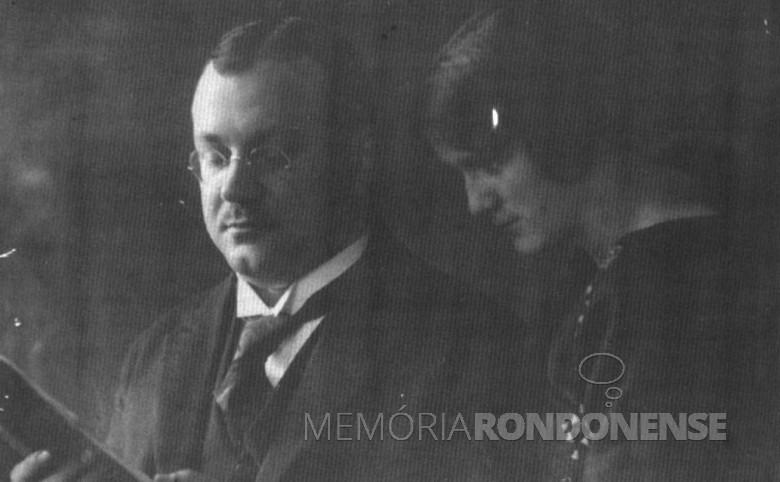 Karl e  Maria Estela (nascida Ruschel) Seyboth, em 1940. O casal são os genitores do médico Frierich Rupprecht Seyboth.