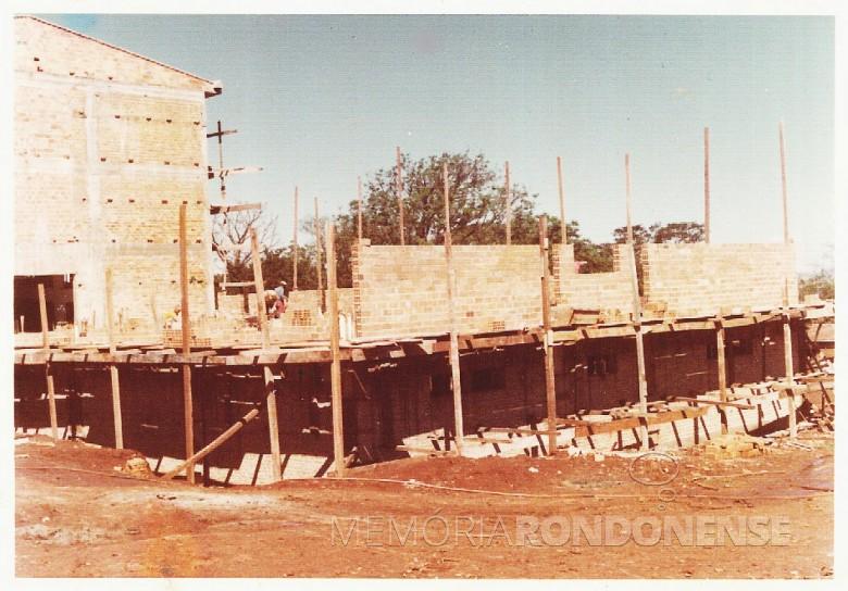 Outra vista da 4ª  etapa da ampliação do  Hospital e Maternidade Filadélfia, em  1977.