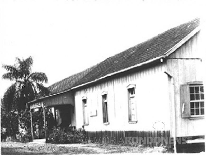 Outra imagem do Hospital Boa Esperança, em  Ipira, SC, em  1951.